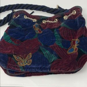 Velvet butterfly Bottega Veneta vintage purse